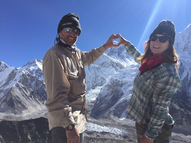 couple at everest base camp
