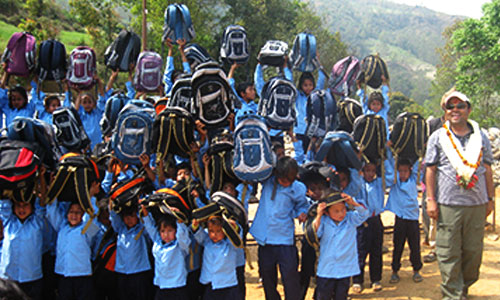 Treking Team Group - School Dress and Bags