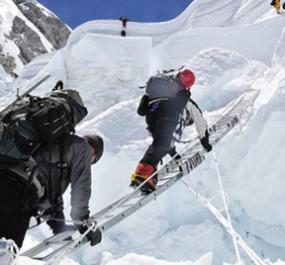 Climb below 8000m